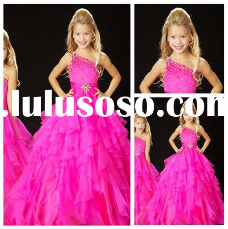 Ball Gown One Shoulder Little Queen Flower Girl Dress
