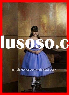 Ball gown organza flower girl dresses for weddings Kids evening gowns 2012