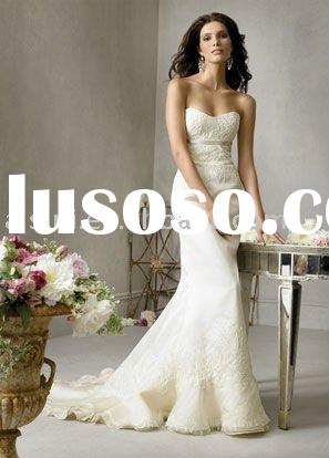 Best Selling Jim Hjelm JH8709 Strapless Sweetheart Organza Mermaid Chapel Train Bridal Gown Wedding