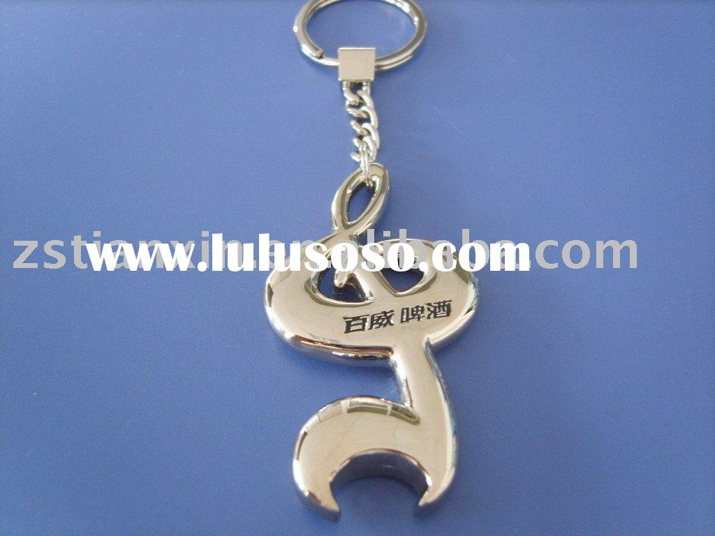 Budweiser bottle opener key chain / metal beer bottle opener key ring / bottle opener with key tag