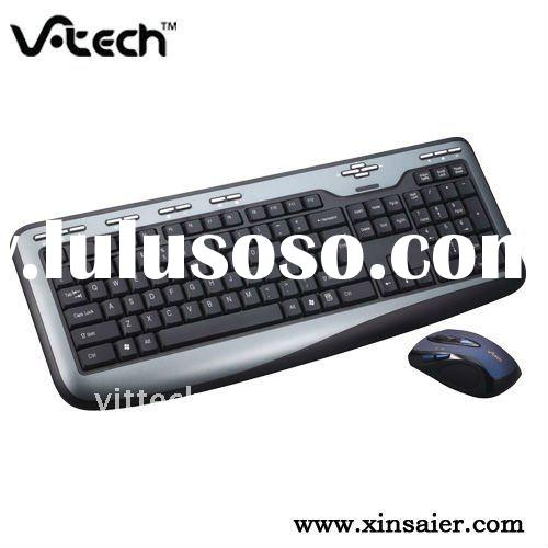 Changeable color 2.4G wireless multimedia mouse keyboard combo