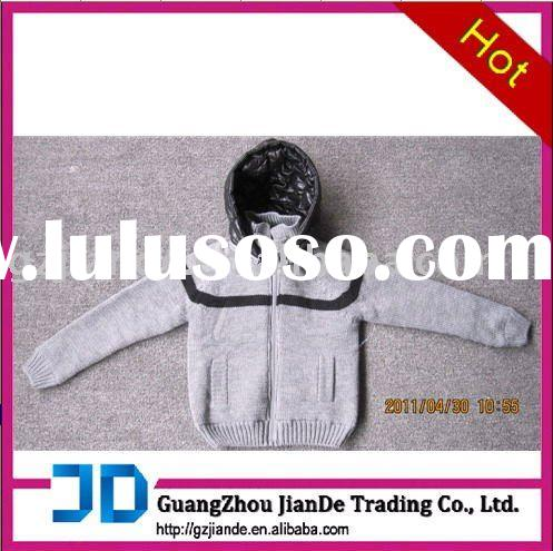 Knitted sweater with a hood 1