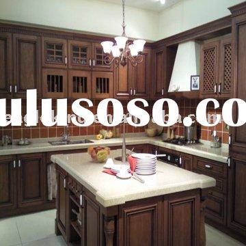 With Classic Wooden Kitchen Cabinets And Shelves Also Classic Wooden
