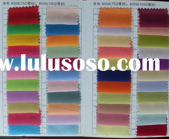 Color Charts Of Chiffon