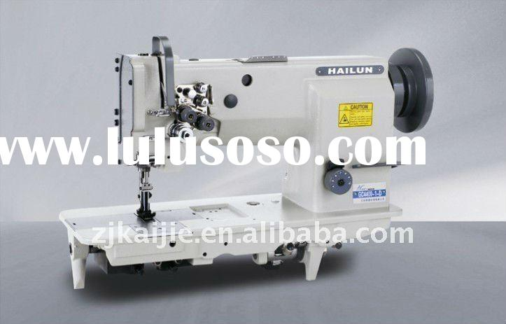 Compound-feed Heavy-duty Flatbed Lockstitch Sewing Machine double needles HL- 4420-2 makeseat cushio