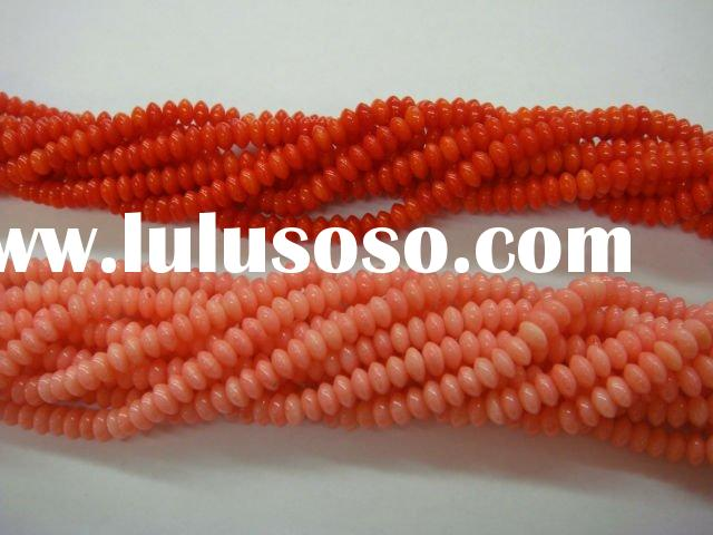 Coral beads red & pink 5*8mm