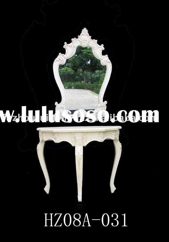 Decorative wood console table with mirror