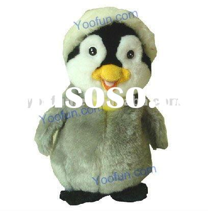 Electronic Plush Penguin Talking Toys with Christmas Hat