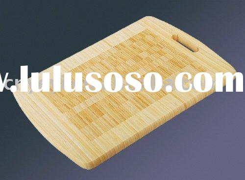 Endgrain Inlay Bamboo Cutting Board With Handle
