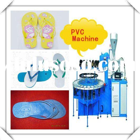 Energy-saving Full automatic One / two color sandals,slippers, plastic shoes injection moulding mach