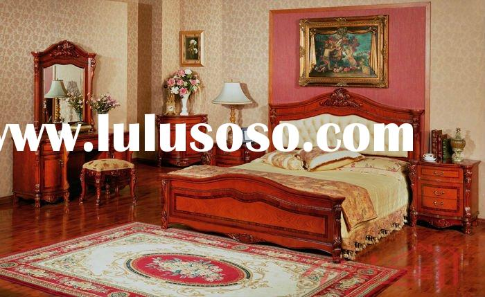 English style solid wood bedroom set BX0102