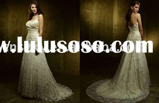 Factory sale free shipping lace A-line fashion off shoulder wedding dress TW015