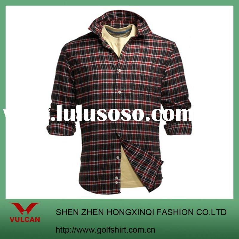 Fashion Checker long sleeve shirts,suit for men's check shirt