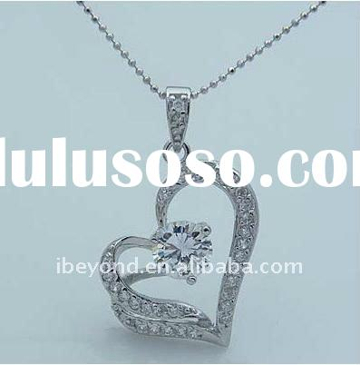 Fashion Heart Shaped Pendant Necklace Costume Jewelry
