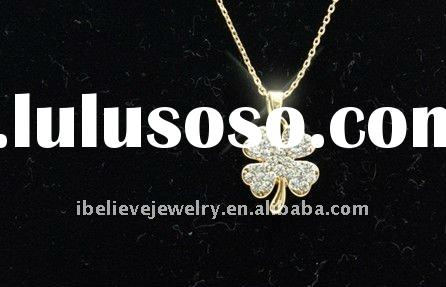 Fashion jewelry, four leaf clover necklace NL-0057