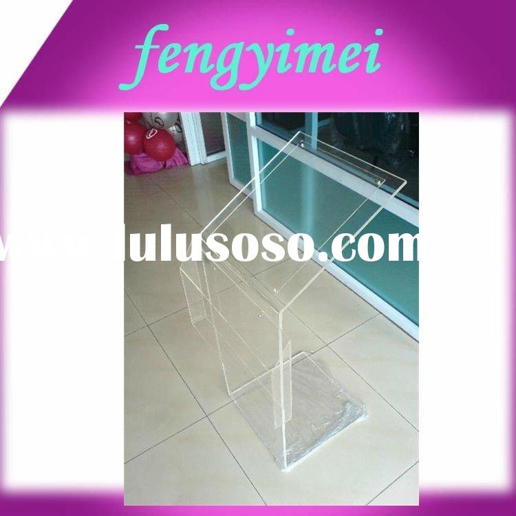 Floor Vertical Transparent Acrylic/Plexiglass/Perspex Brochure/News Paper/Poster Stand Holder