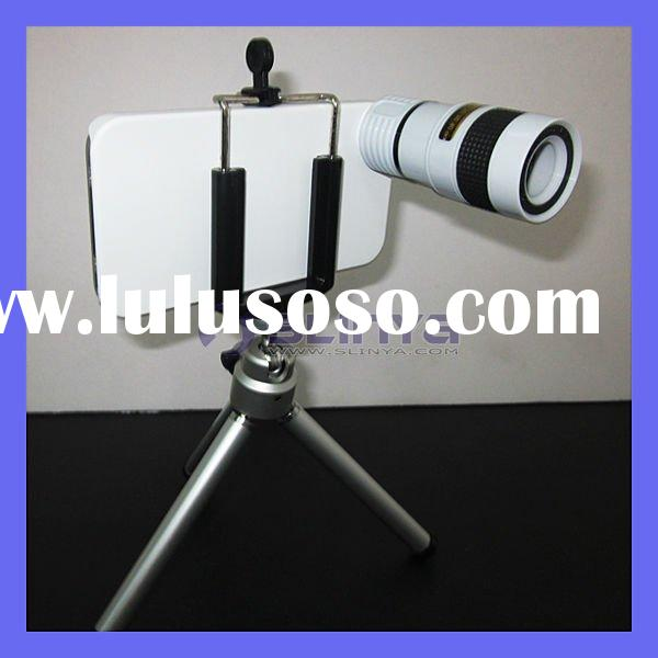 For Smartphone iPhone 4 4G 8X zoom Telescope Lens, For iPhone 4 4S Zoom Lens SLR Mounts