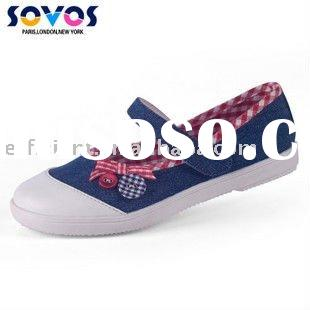 Free Shipping Wholesale SOVOS Kids Casual Denim Shoes With Bowknot