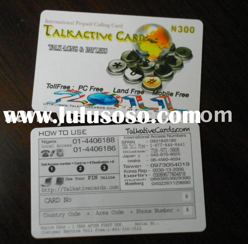 Full Color Printing Plastic Prepaid Scratch Card