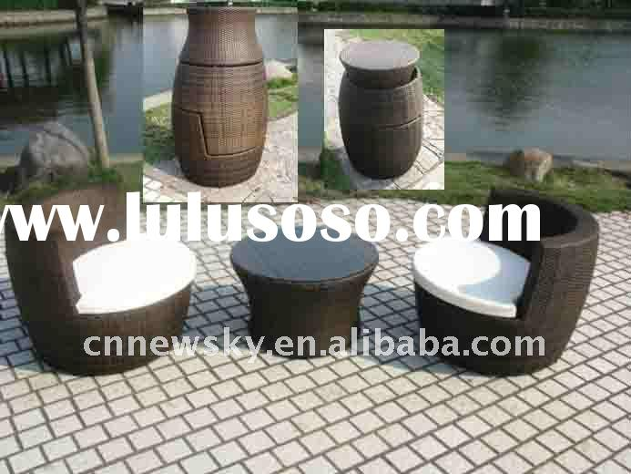 GARDEN WICKER RATTAN SOFA SET OUTDOOR FURNITURE