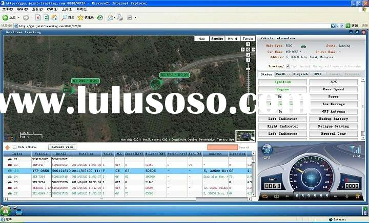 GPS tracking software used in vehicle monitoring and management, logistics fleet management, taxi gr