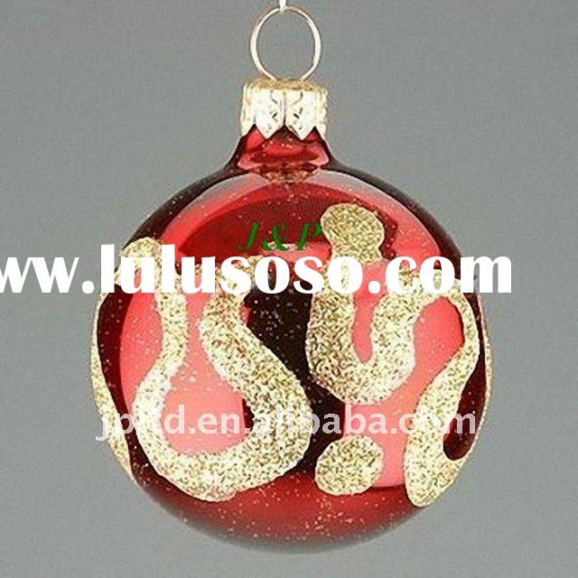 Glass christmas ball/christmas ornaments/glassware