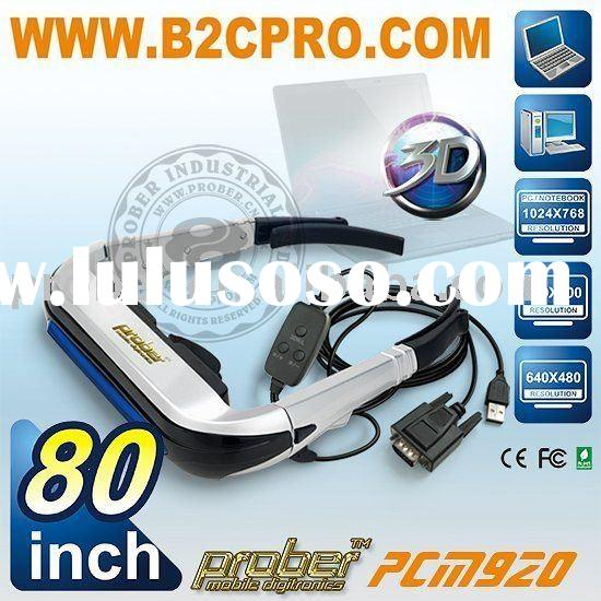 HD 3d glasses/virtual reality display/video glasses/80inch 3d/lcd glasses/prober industrial ltd/3d v