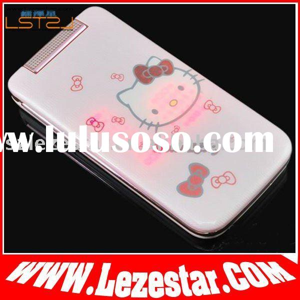 Hello kitty cartoon mobile phone w330, fashion christmas phone