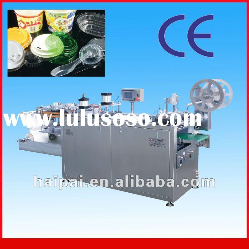 High Quality Cap or Tray Plastic Thermoforming Machine for packing food