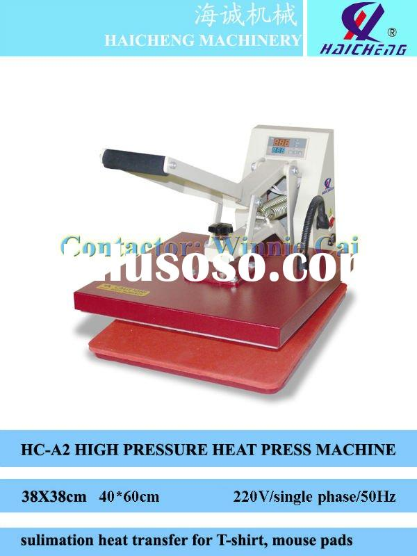 High pressure manual heat transfer printing machine for garment