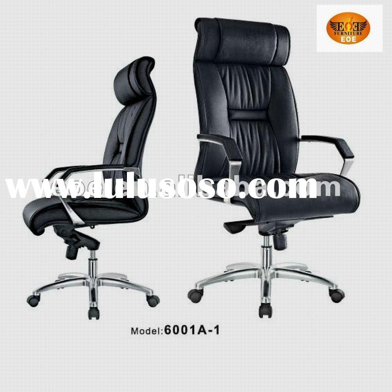 High quality and high back foshan office leather chair 6001A