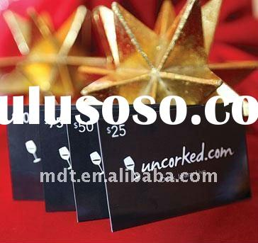 High quality plastic gift card