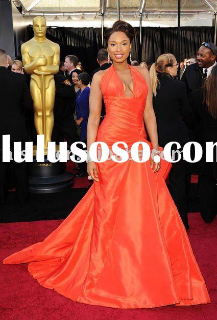 Jennifer Hudson 83th Oscar 2011 Red Carpet Halter A-line Celebrity dresses Formal Gown