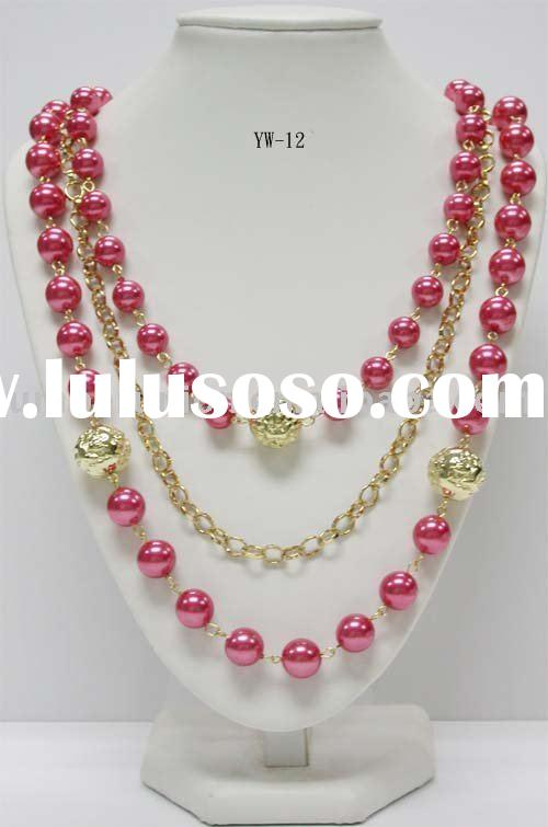 Jewelry multi strand hand beaded necklaces