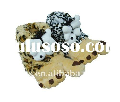 Kids Plush New Design Animal Slippers 2012