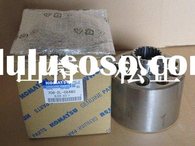 Komatsu excavator spare parts, SAA6D107E engine, hydraulic pump parts, block assembly,708-2L-06480