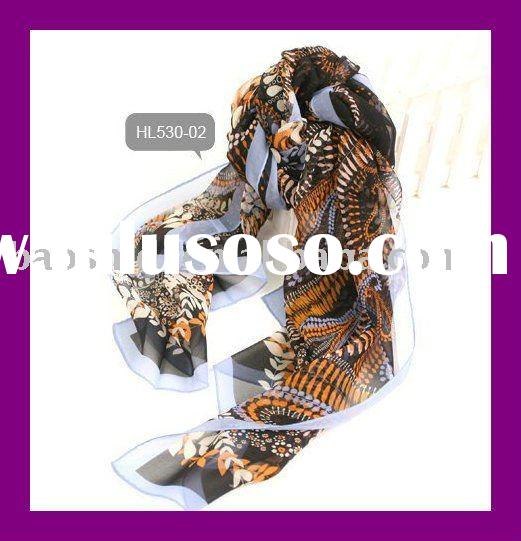 Ladies fashion printed georgett long silk scarf