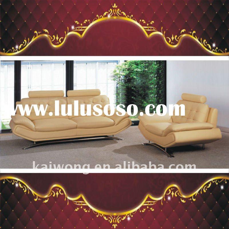 Living Room Furniture high quality competitive price Genuine Leather wooden sofa C-058