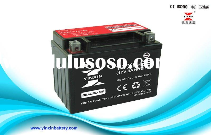 Long life MF motorcycle lead acid battery(YTX9-BS)