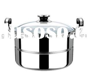 Low price Glass Cover stainless steel cookware