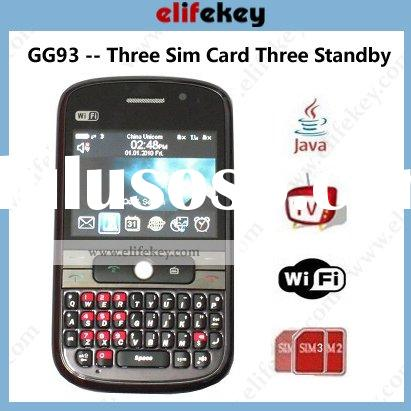 MFU GG93 Wifi TV Java unlocked Triple sim card mobile phone