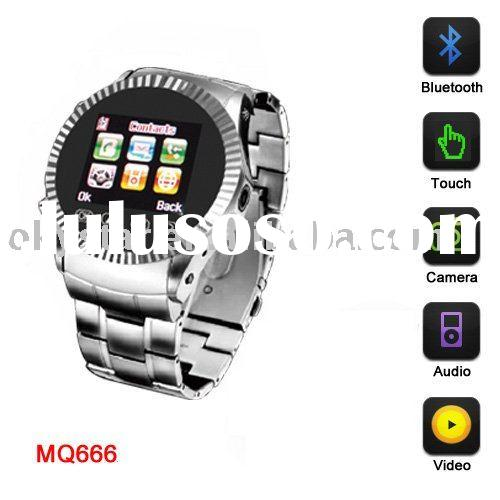 MQ666 Quad band 1.5 inch Touch Screen watch mobile phone with camera