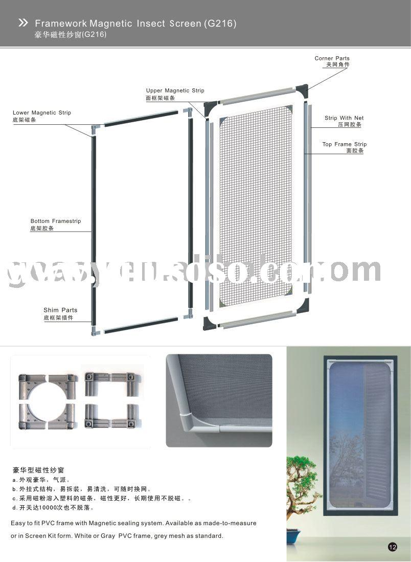 Insect screen window insect screen window manufacturers for Window insect screen