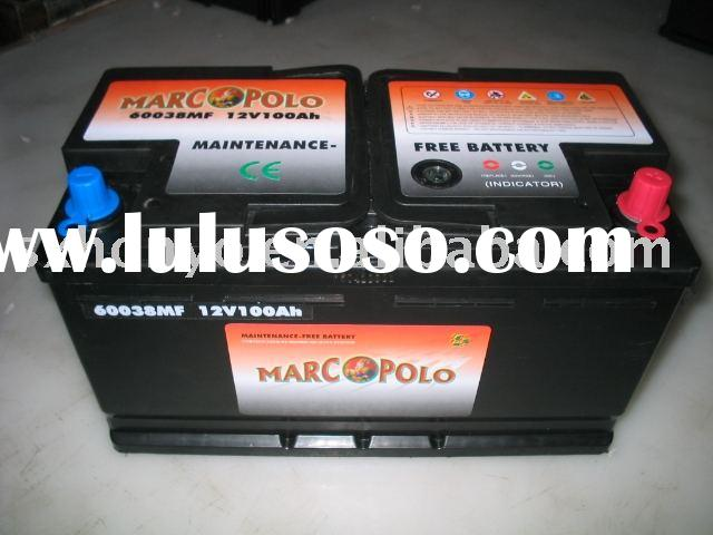 Maintenance Free Automotive Battery(MF battery) Car Battery