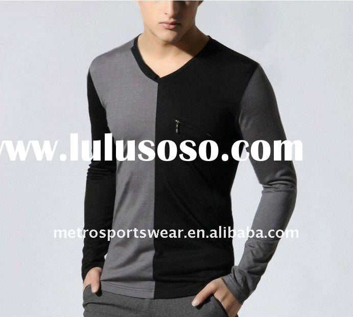 Men's fashion long sleeves t-shirt