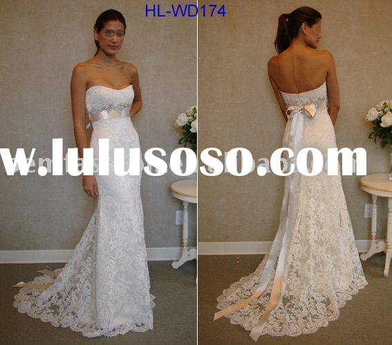 Mermaid/Trumpet Style Sweetheart Neck Line Lace wedding gown HL-WD174