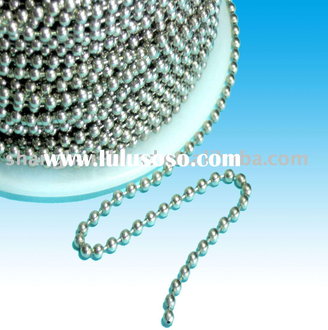 Metal Ball Chain - stainless steel polished
