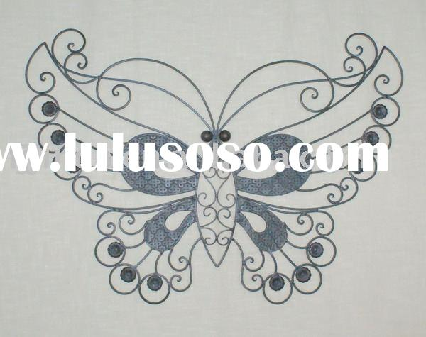 Metal butterfly wall decor.,Metal wall arts,Wrought iron wall sculpture.