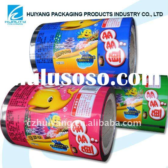 Metallized plastic printing roll film for puffed food packaging