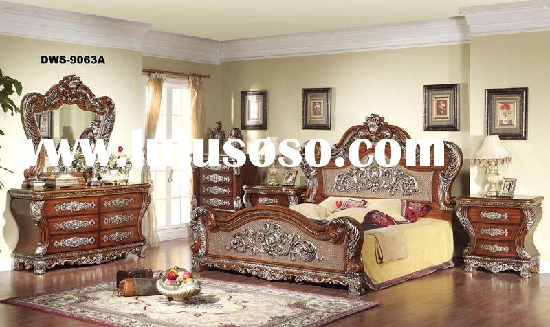 Mid-East Style Classic Wooden Bedroom Sets Furniture DWS-9063